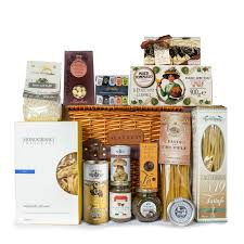 gourmet gift basket with truffle