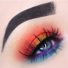 sunset eye shadow is trending on