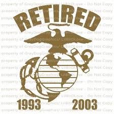Custom Retired Marine Usmc Ega Vinyl Decal With Dates Of Service Vinyl Decal Stickers Vinyl Decals Custom Decals