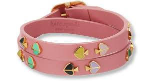 double wrap leather bracelet in pink
