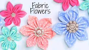 how to make fabric flowers quick and
