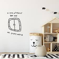Vinyl Wall Art Decal In Case Of Really Bad Day Use Escape Hatch 27 X 17 Ebay
