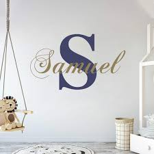 Amazon Com Personalized Name Initial Classic Edition Prime Series Baby Girl Nursery Wall Decal For Baby Room Decorations Mural Wall Decal Sticker For Home Children S Bedroom Mm39 Wide 22 X11