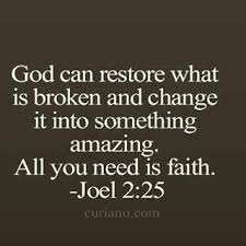 i have % confidence that god will restore every broken