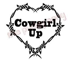 Cowgirl Up Barbed Wire Heart Vinyl Decal Choose By Thepudgypony 6 00 Silhouette Crafts Animal Templates Truck Stickers