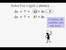 beginning algebra solving algebraic