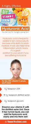 hyaluronic acid and vitamin c serum diy