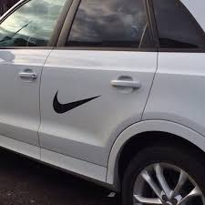 Amazon Com 24 Swoosh Nike Logo Car Window Vinyl Decal Ipad Laptop Sticker Color White