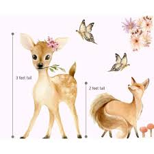 Picture Perfect Decals Woodland Nursery Decor Wall Stickers Forest Animals Baby Room