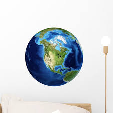 3d Rendering Planet Earth Wall Decal Design 21 Wallmonkeys Com