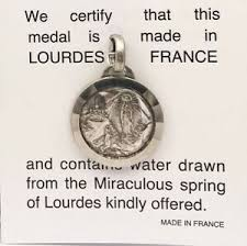 lourdes apparition holy water pendant