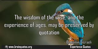 the wisdom of the wise and the experience of ages
