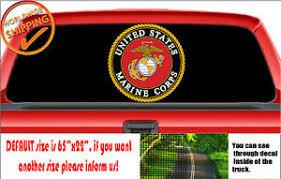 W1127 Us Marine Corps Truck Wall Wrap Perforated Car Decal Rear Window Sticker Ebay