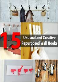 15 Unusual And Creative Repurposed Wall Hooks Diy Crafts
