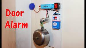 how to make a door alarm theft alert