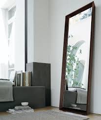 standing floor mirror solid wood