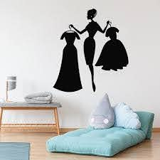 Shop Wall Decal Fashion Girl Shopping Clothing Store Interior Decor Dresses Vinyl Window Stickers For Girls Bedroom Decoration Wall Word Art Wall Word Stickers From Onlinegame 11 85 Dhgate Com