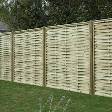Premier Woven Overlapping Fence Panel Pressure Treated Free Delivery Available