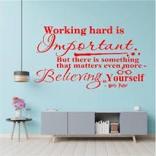 Potter Working Hard Is Important Quote Wall Sticker Usa