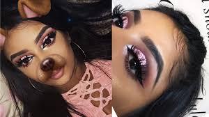 barbie pink glitter makeup look you