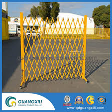 China Construction Site Road New Design Expandable Aluminum Gate Barrier Collapsible Fence China Aluminum Crowd Control Barrier Fence Gate