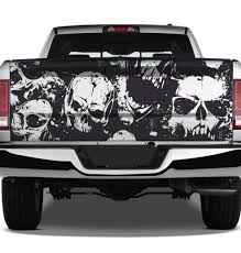 Skull Distressed Grunge Tattoo Graphic Wrap Tailgate Vinyl Decal Truck Pickup Suv