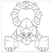 Pokemon Volcanion Coloring Pages