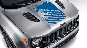 Jeep Renegade Distressed American Flag Vinyl Decal Blackout Hood Decal