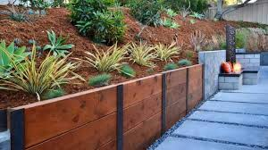 i beam wood retaining wall