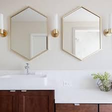 metal framed hexagon mirror