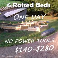 build 6 raised beds in one day on a