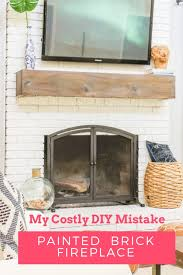 painted brick fireplace 3 years later