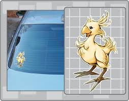 Chocobo From Final Fantasy Vinyl Decal No 3 Ff Sticker Etsy