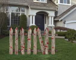 2 Bloody Garden Fence Decorations Party365 Com