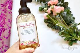 homemade all natural foaming hand soap