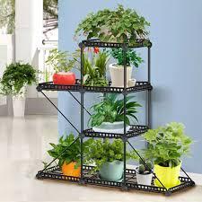 Iron Plant Stand Display Shelf Home Decor Retro Garden Flower Pot Balcony Shelf Lazada Ph