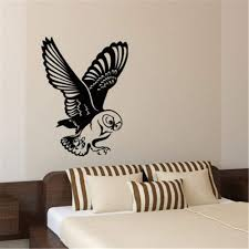Amazon Com Quote Vinyl Wall Decal Sticker Art Removable Words Home Decor French Quote La Chouette En Plein Vol The Owl In Full Flight Home Kitchen
