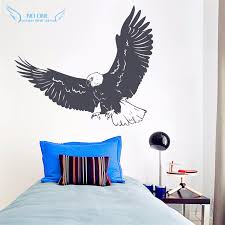 Flying Eagle Wall Decal American Bald Eage Wall Art Decor Nature Animals Wall Sticker Home Decor Kids Room Mural Decoration Natural Home Decor Olivia Decor Decor For Your Home And Office