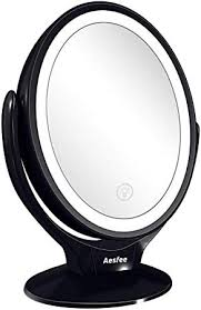 double sided led makeup mirror with