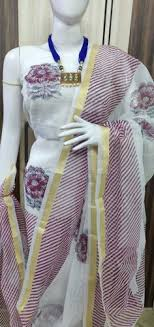 flower las line salwar suits