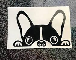 Items Similar To Boston Terrier Decal Boston Terrier Vinyl Sticker Boston Terrier Terrier Boston Terrier Dog Bosto In 2020 Boston Terrier Dog Etsy Vinyl Sticker