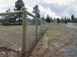 Round Post Fence With Wrapped Wire Fencing Ranch Fencing Country Fences Fence Design