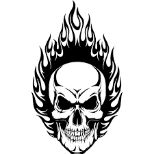 2020 12 7 7 6cm Cool Graphics Flaming Skull Vinyl Car Hood Decals Window Stickers Handsome And Cool Stickers Car Sticker From Xymy787 5 53 Dhgate Com
