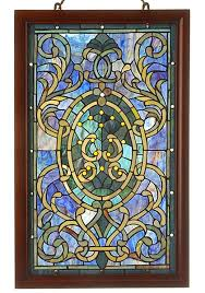 stained glass framed mirror wayfair