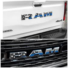 2019 2020 Ram 1500 Grille Tailgate Thin Blue Line Emblem Decal Etsy