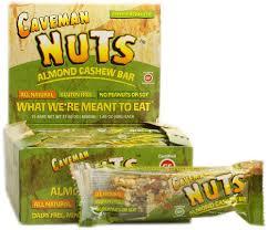 caveman nuts bar almond cashew