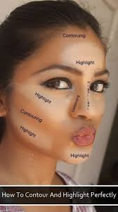 highlighting your face with makeup