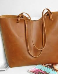 handmade womens leather large tote bag