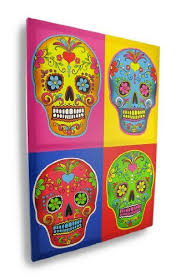 Pin by Adriana Fowler on Canvas | Art day, Day of the dead, Art