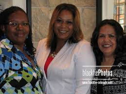 Gorgeous smiles from the honorees: Effie Henderson, left, Alicia Ramirez  and Kathy Mojica